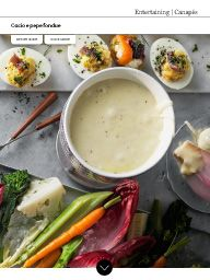 Waitrose Food November 2016: Cacio e pepe fondue