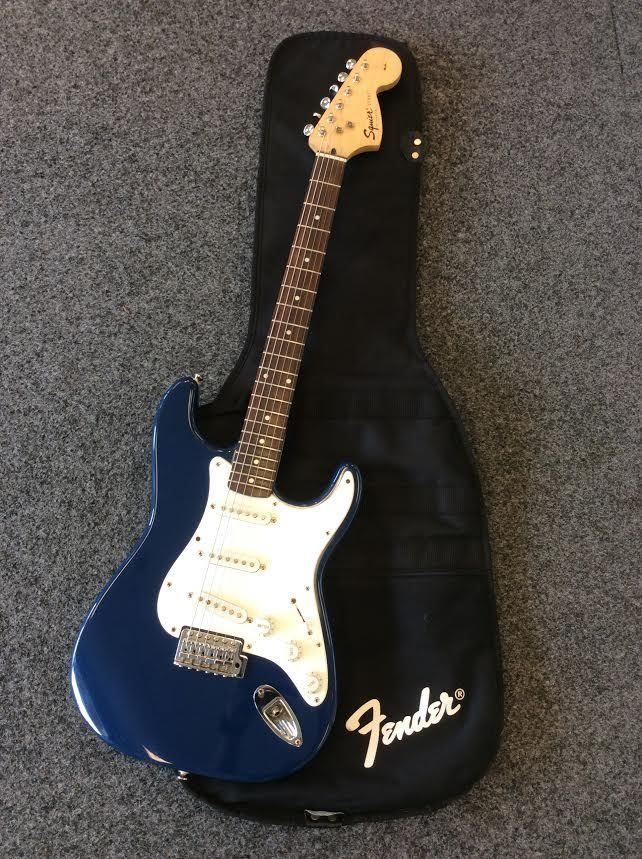 Fender Squier Strat Affinity Series Electric Guitar Dark Blue Indonesia Gig Bag. SOLD