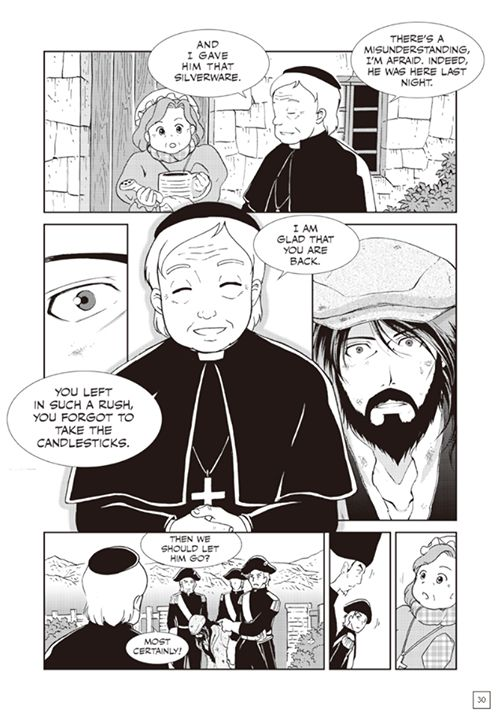 Page 27 of Manga Classics: Les Miserables first chapter. You can read the full chapter at  http://goo.gl/yIvaV4  #MangaClassics #LesMiserables #LesMis #LesMiz #VictorHugo #jeanvaljean #24601 #bishopmyriel