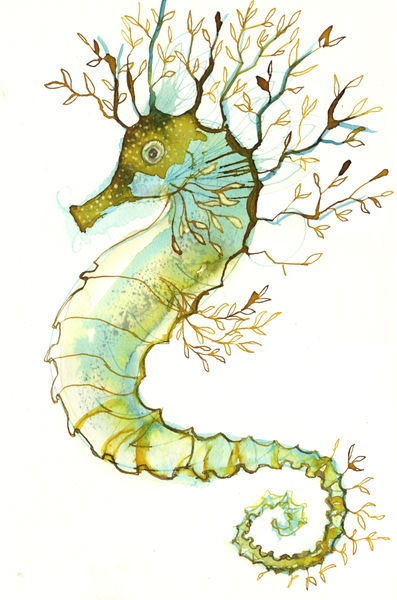 seahorse, inspiring for applique and embroidery?