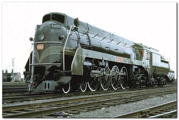 CN 6400 Confederation 4-8-4.  Displayed at National Museum of Science & Industry, Ottawa