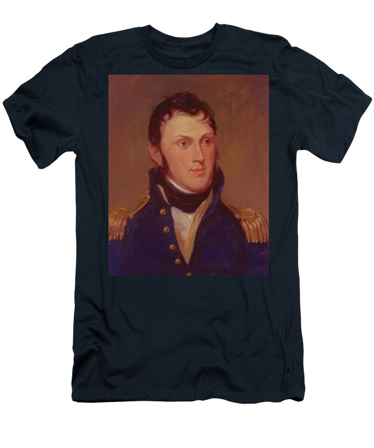 Stephen Men's T-Shirt (Athletic Fit) featuring the painting Stephen Harriman Long 1819 by Peale Charles Willson