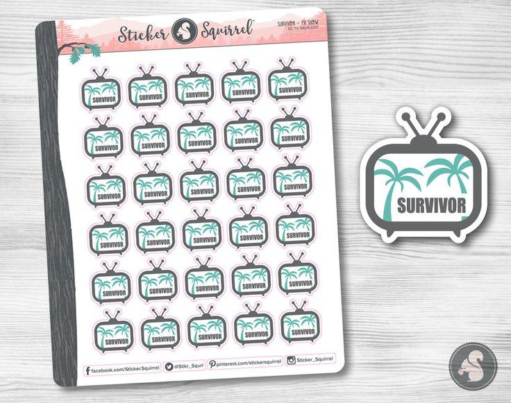 Survivor Tv Show Planner Stickers - reality television tv show island planning organizer erin condren planners calendar tv SC.TV.SRVR.0217 by StickerSquirrel on Etsy