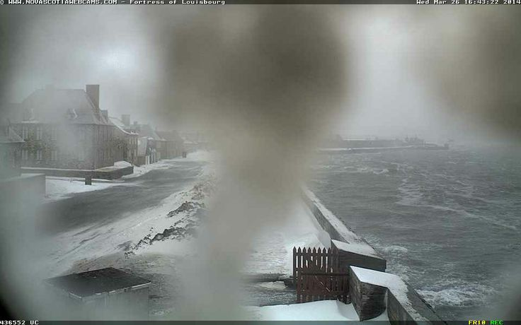 Another snap from the Fortress of Louisbourg web cam here in #CapeBreton at 4:40 pm