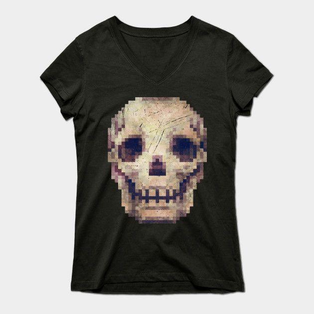 Skull Vintage Pixels V01 by lidra
