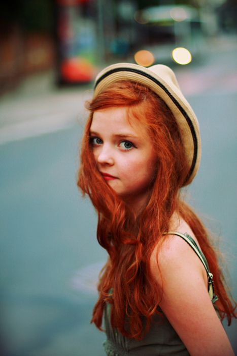 Very red hair.
