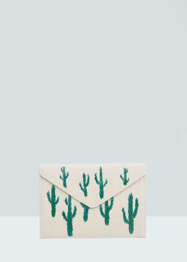 Affordable Accessories for Summer 2016 | Cactus Envelope Clutch from @mangofashion