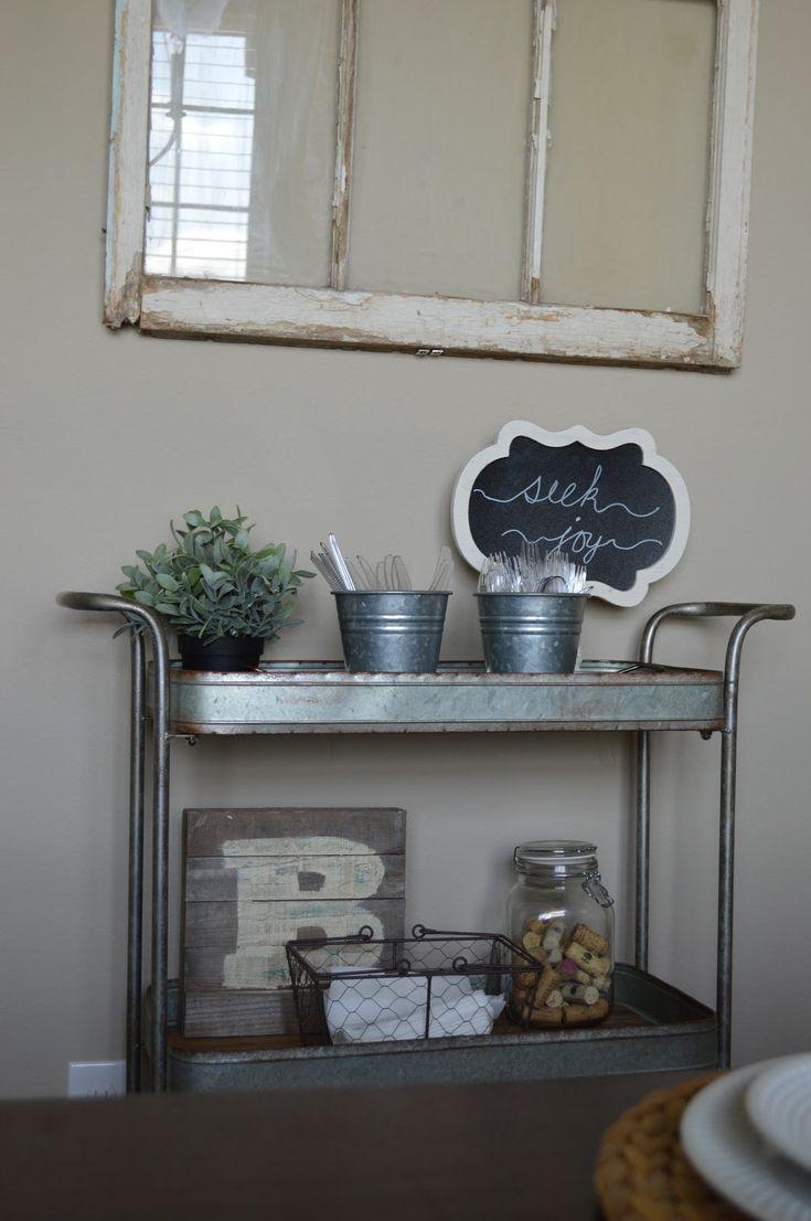 Image result for farmhouse bar cart