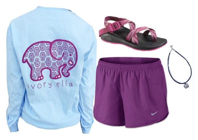 """Love, Love, Love, Ivory Ella"" by lizzielane33 ❤ liked on Polyvore featuring moda, NIKE y Chaco"