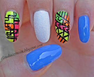 Nail Art Tutorials: Tribal  #nail #nails #nailart