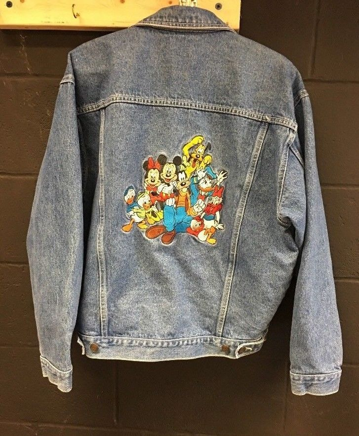 d32cb66702e0e Vintage The Disney Store Denim Jacket Adult M Embroidered Mickey Mouse 90s  Jean  Disney  JeanJacket