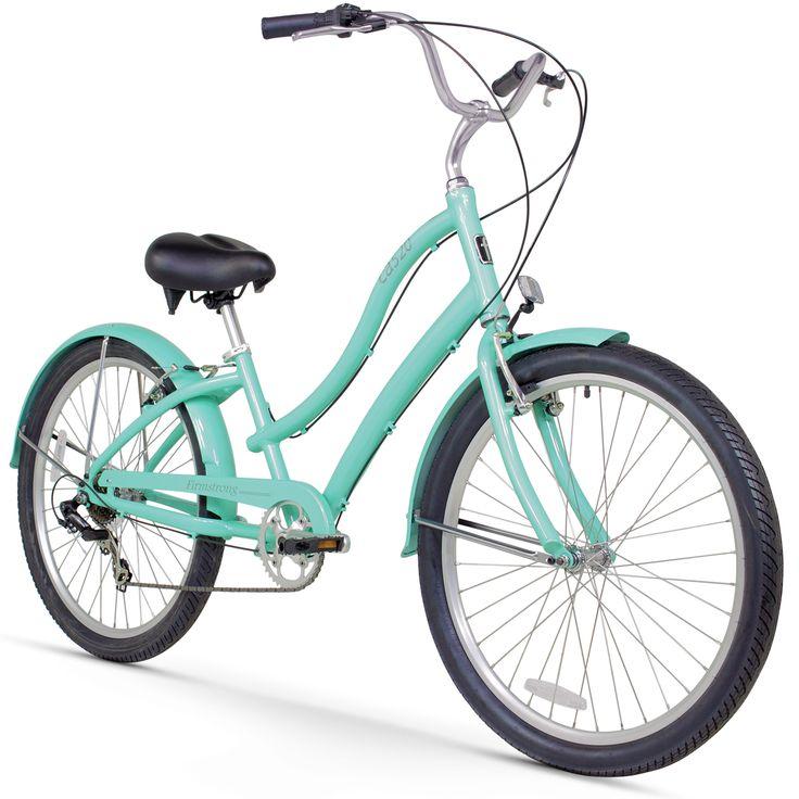 """26"""" Firmstrong Women's CA-520 Seven Speed Beach Cruiser Bicycle, Mint"""