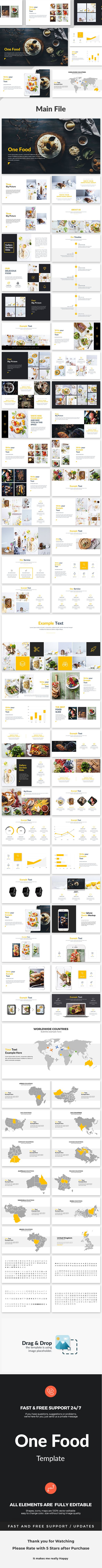 One Food - Creative Keynote Template