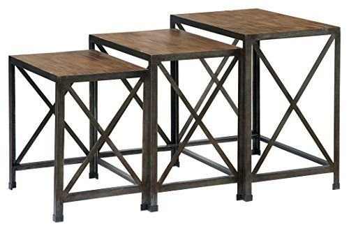 Sometimes natural beauty and interior design go hand in hand—as is the case with the Vennilux nesting end tables. The wire brushed stain is a masterful melody of color that evokes weatherworn driftwood. We love how it crosses so many styles—from coastal cottage to cool eclectic. KeywordXP Video I... more details available at https://furniture.bestselleroutlets.com/accent-furniture/nesting-tables/product-review-for-ashley-furniture-signature-design-vennilux-nesting-end-tab