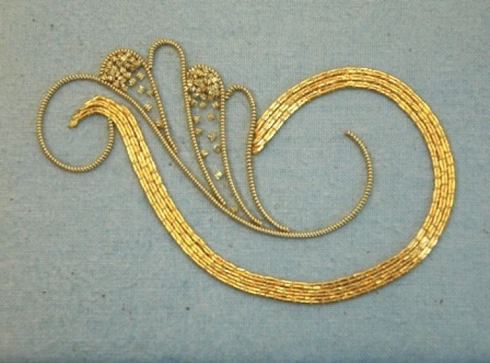 Learn the techniques of goldwork with Hand & Lock. Take a look at our online course here: https://www.mastered.com/courses/22 Preorder for £80.