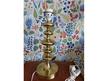 Lampa bordslampa mässing 60-tal retro 70-tal Superfräck