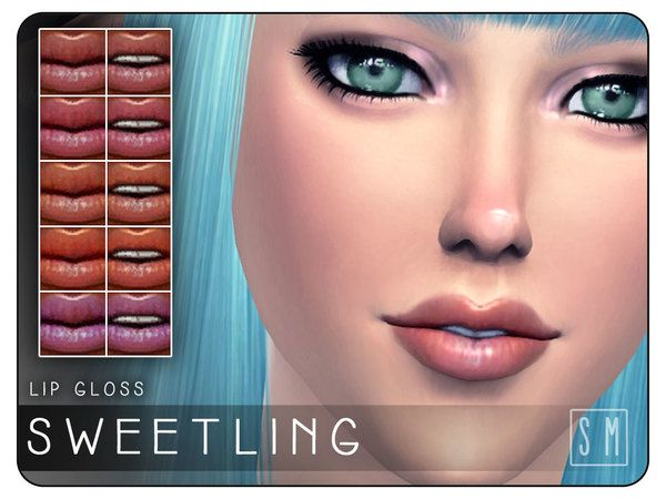 The Sims Resource: Sweetling  - Lipgloss by Screaming Mustard • Sims 4 Downloads