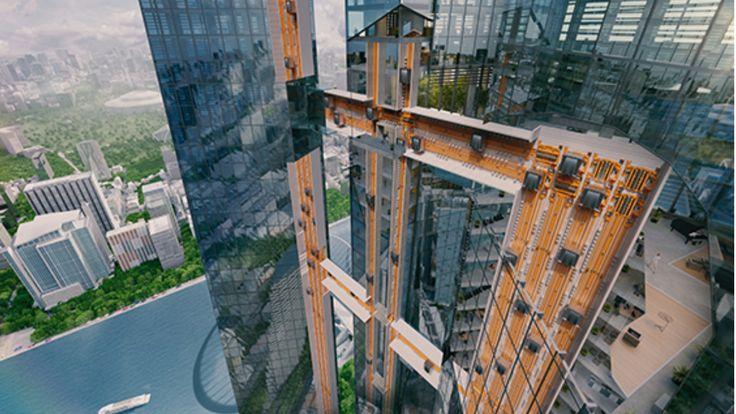 Er wird in Berlin gebaut - Erster Fahrstuhl, der auch um die Ecke fährt
