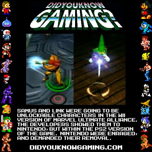 Samus and Link could have been playable characters in Marvel Ultimate Alliance