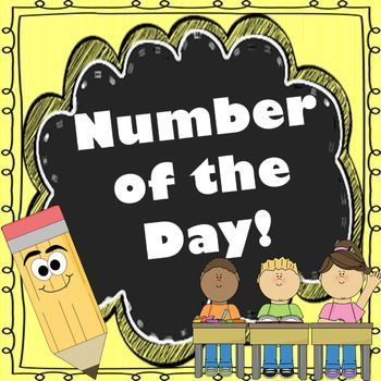 Primary Number of the Day Templates!