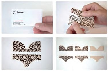 Dare got 'cheeky' with Diane's Lingerie #businesscards #design