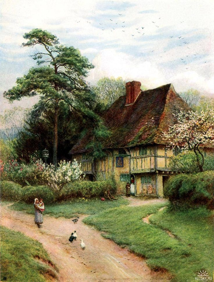 This Would Make A Great Painting Helen Allingham Kent EnglandCottage ArtOld EnglishCountry