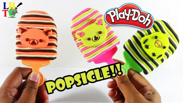 Play Doh Popsicles Rilakkuma and Friends | Learn Colors Rainbow | Play D...