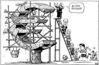 This cartoon appeared in the Print edition of The Economist on 23 March. At the time, the beleaguered Mediterranean nation was about a week into a situation which had shaken Europe in yet another financial crisis as a member state reached near bankruptcy.