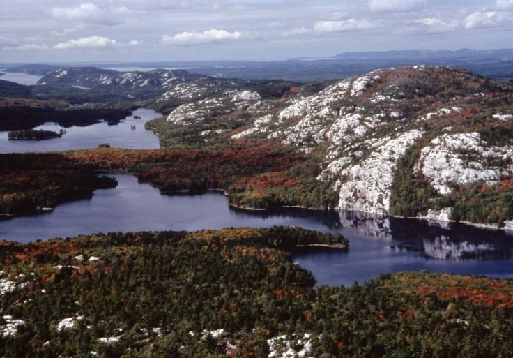 Killarney Provincial Park at the top of 'The Crack' hike