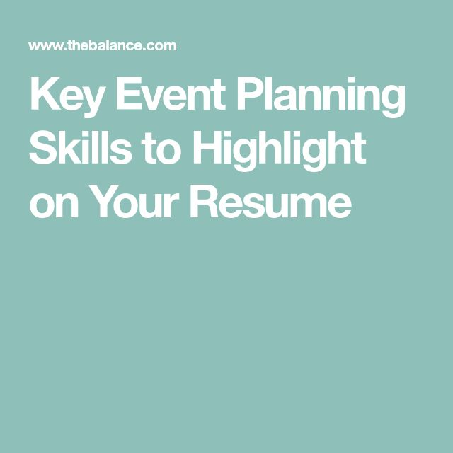 Key Event Planning Skills to Highlight on Your Resume