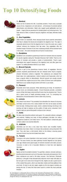 I 10 alimenti disintossicanti
