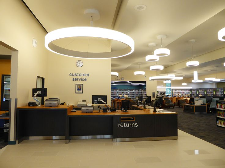 Beautiful The Silvery Trim Of The Service Desk And The Lighting Fixtures Go Great  With The Spaceu0027s