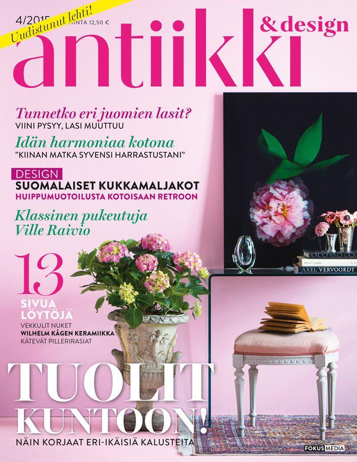 Antiikki & Design 4/2015. Magazine cover. Styling Irene Wichmann. Photo Kristiina Hemminki, Fotonokka.