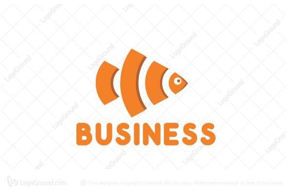 Logo for sale: Wifi Fish Logo