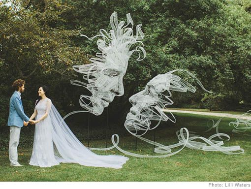 'Entwined' Wedding Ribbon Sculpture & Installation