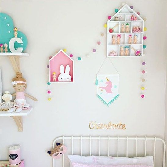 This space by @brooka81 is so sweet  Felt Ball Garland available at www.littlerosieandme.com