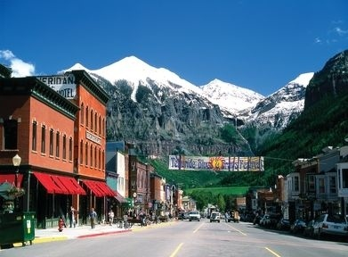 Telluride - my favorite Colorado city, home of my favorite music festival - Blues & Brews.