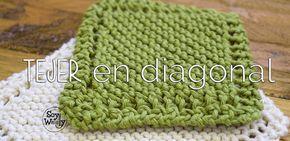 Aprende a tejer en diagonal, al sesgo o al bies en dos agujas con este paso a paso y disfruta de una manta fácil con bordes calados sin necesidad de uniones ni remates extra