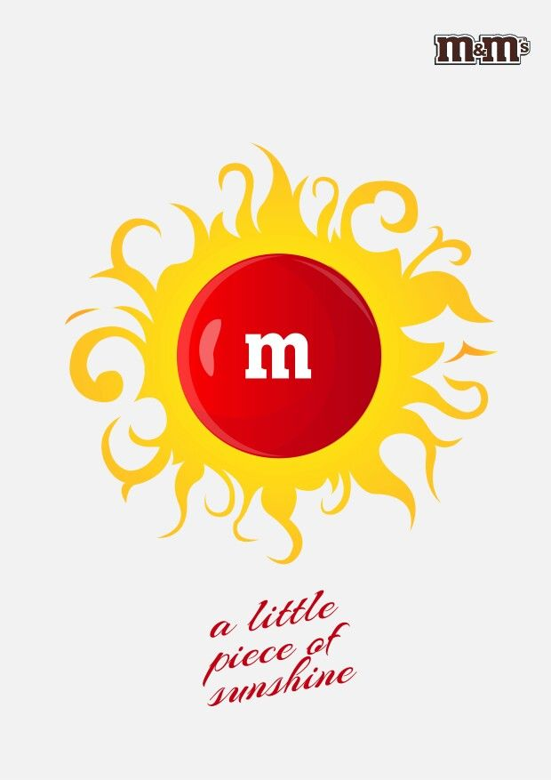 a little piece ad for m&ms