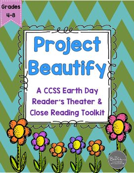 No Prep-Print and Go Reader's Theater Fun Pack!This 16-page Earth Day Reader's Theater Fun Pack includes: 6-page, 12-character script Context clue word work Reader Response Questions Journal Prompt for Reflection Writing Activity Earth Day Informational Text Close Reading Toolkit with reader response questions and post-reading journal promptsGrab your students attention while working on both fluency and comprehension with this Earth Day Reader's Theater.Summary: The students at Lakeland…