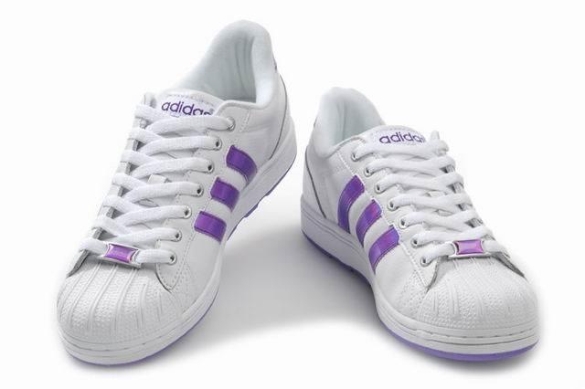 Adidas Superstar Purple Stripes