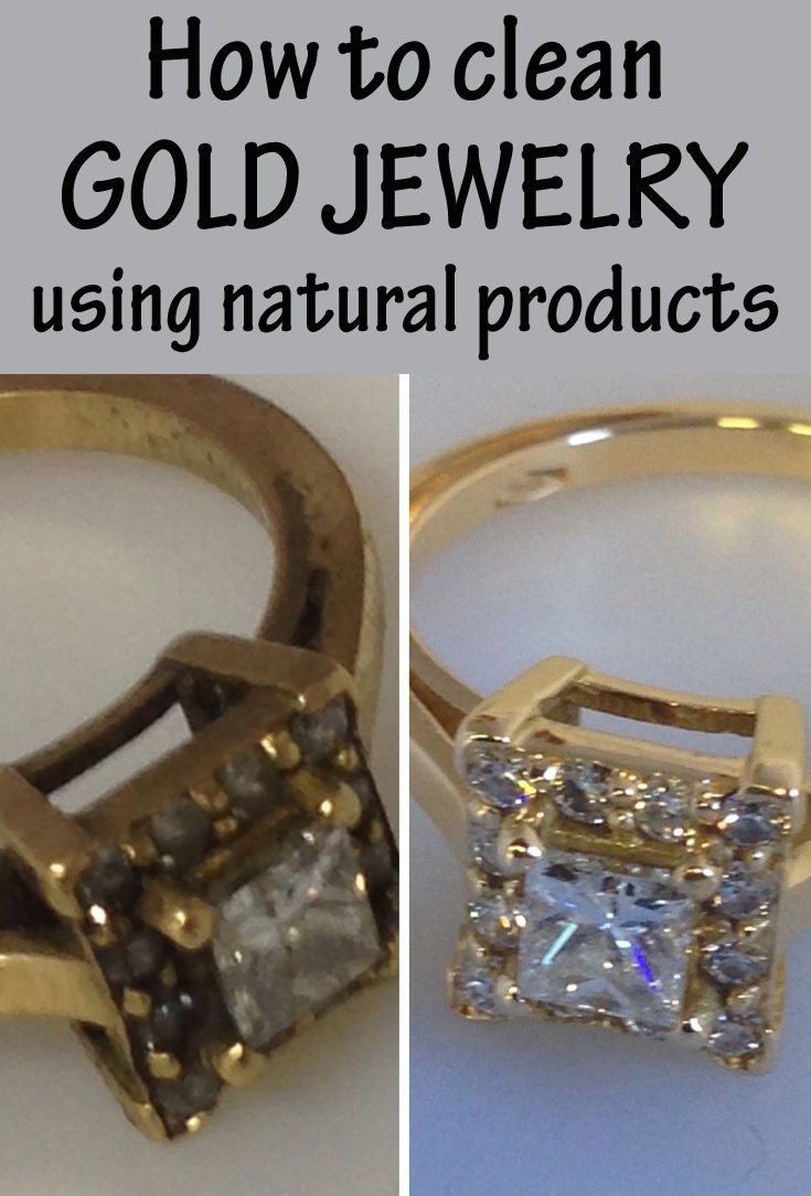 how to clean gold jewelry using products colors