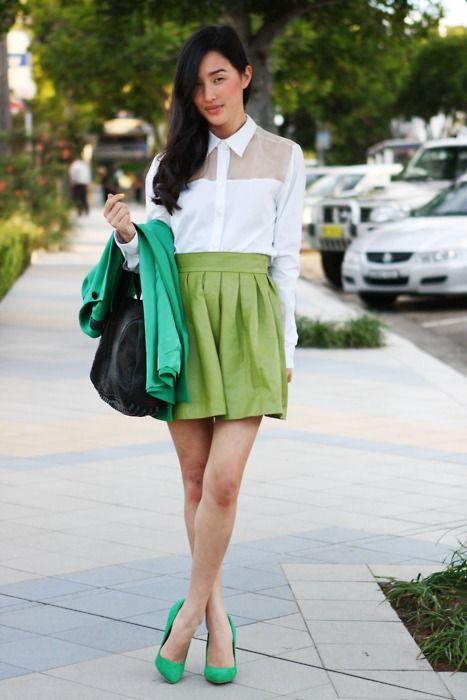 Blogger Style: Monochromatic green