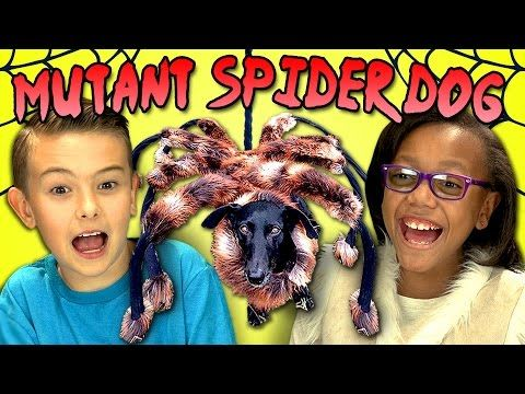 KIDS REACT TO MUTANT SPIDER DOG - YouTube