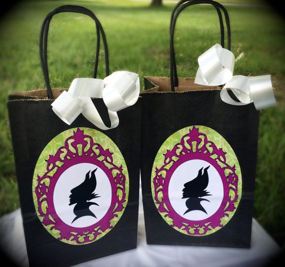 Maleficent Birthday Party Treat Sacks Candy by WizysPartyShop, $12.50