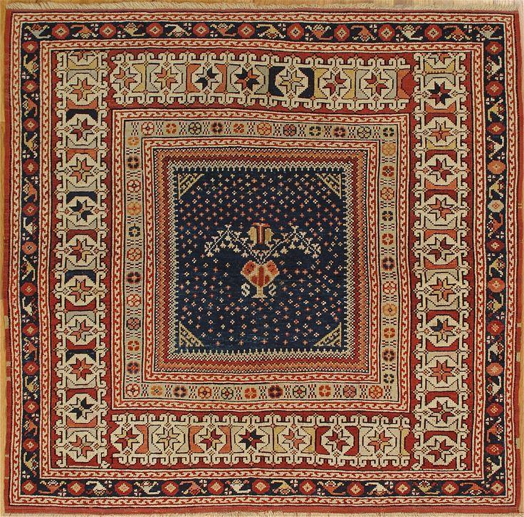 "Turkish Ground Rug: Bergama Rug,Western Anatolia,circa 1880, 4'.7""x4'.10"