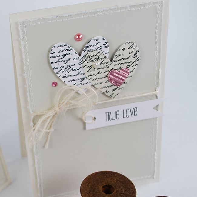 French Script papers & the Simplest {Sweetheart} Sentiments.