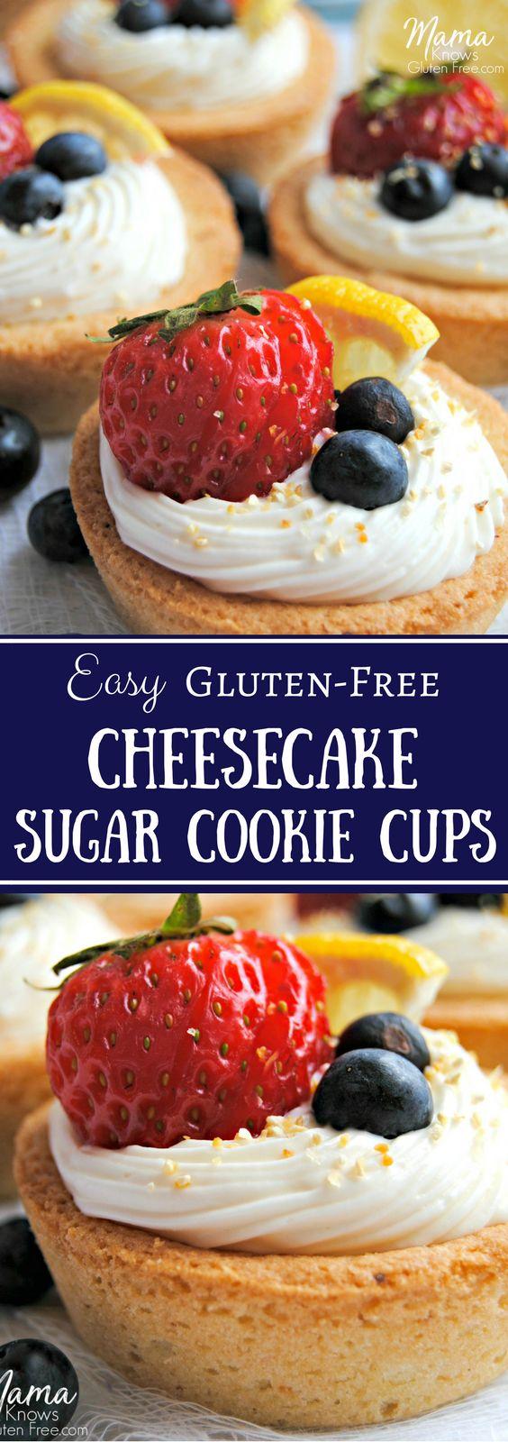 Gluten-Free Cheesecake Sugar Cookie Cups   mamaknowsglutenfree.com