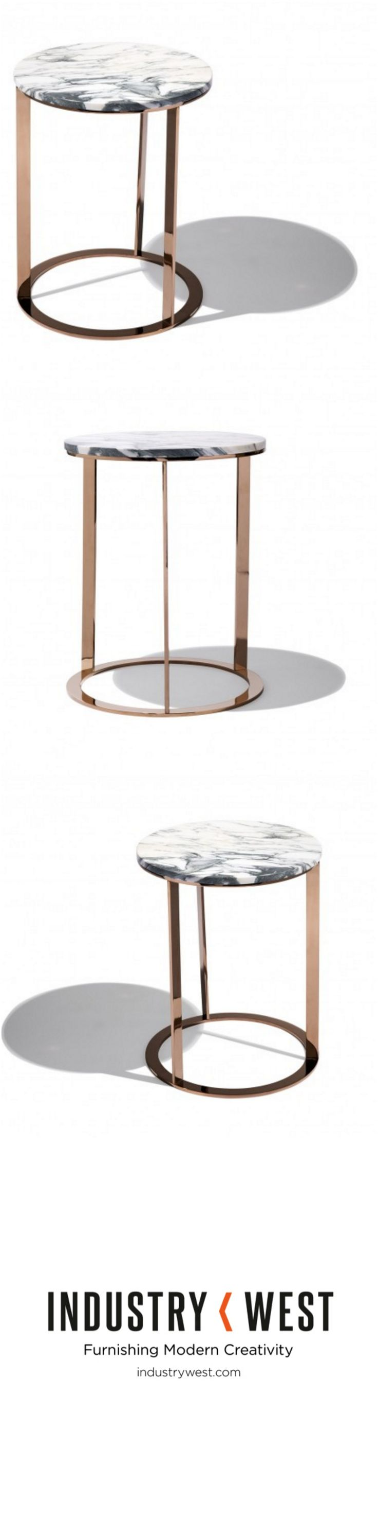 We've been dreaming in marble and rose gold, and the Phorma Table is our dream come true. With the same solid marble top and rose gold base as the St. Clair collection the Phorma explores a more industrial style with is minimalistic base.