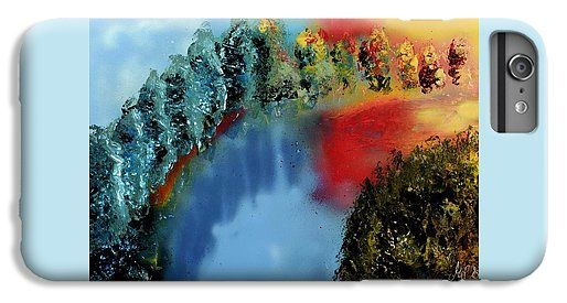 River Of Colors IPhone 6 Plus Case Printed with Fine Art spray painting image River Of Colors by Nandor Molnar (When you visit the Shop, change the orientation, background color and image size as you wish)